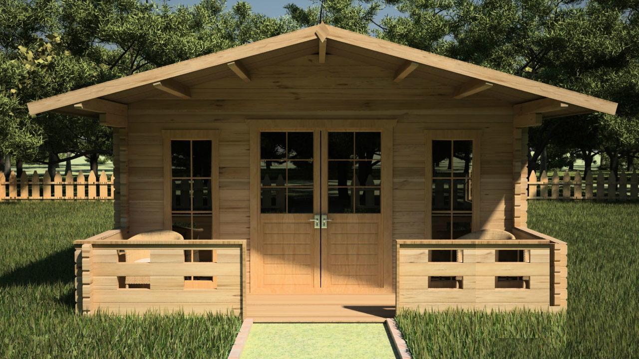 Дачный садовый домик